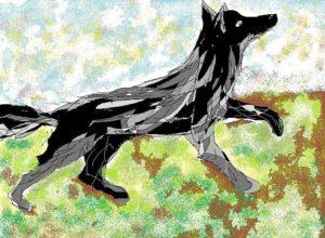 dessin de chien par un enfant
